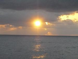 太平洋からの朝日